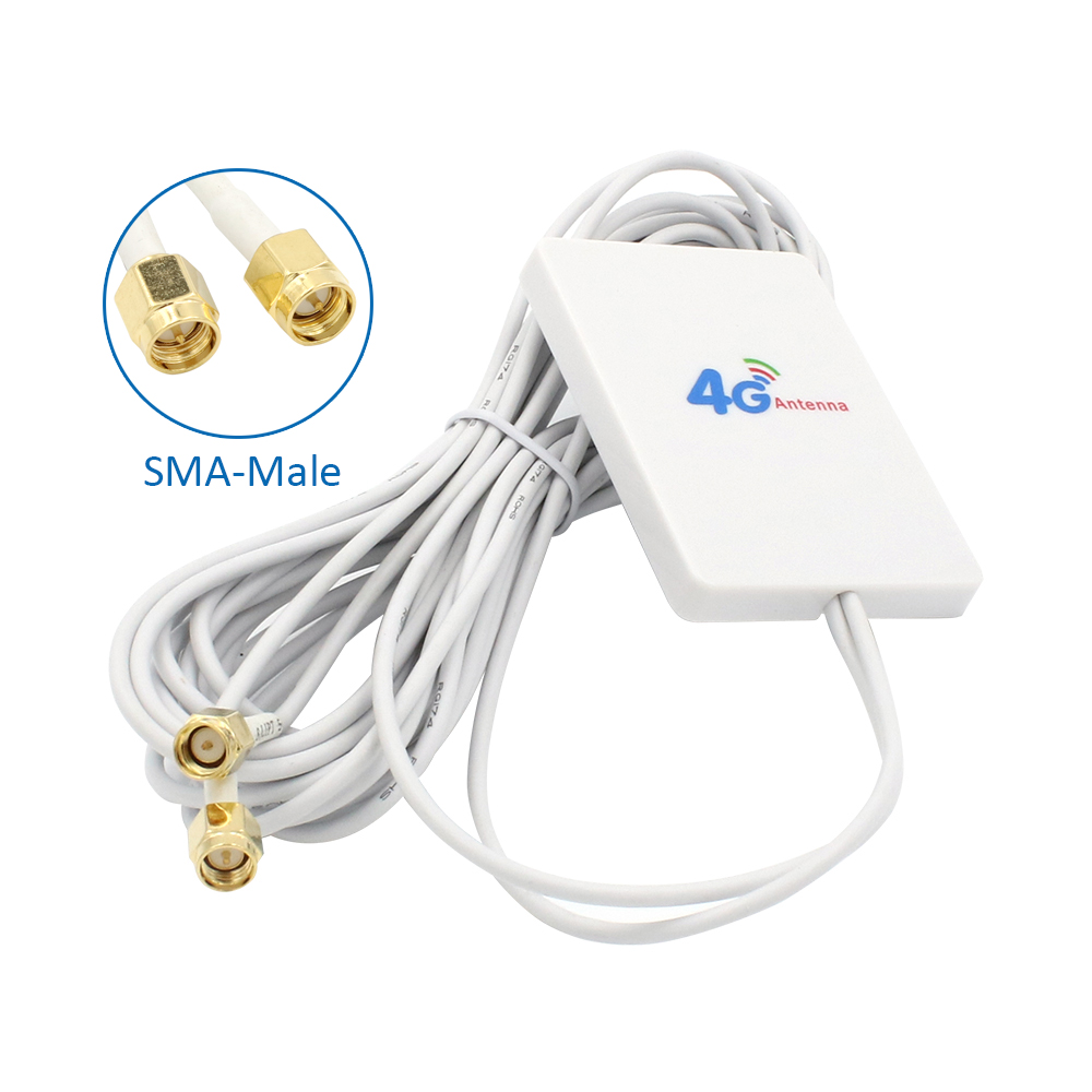 3G 4G Router Antenna  Panel Antenna  4g LTE Antenna With SMA TS9 CRC9 Connector 3m Cable For Huawei 3G 4G LTE Router USB Modem