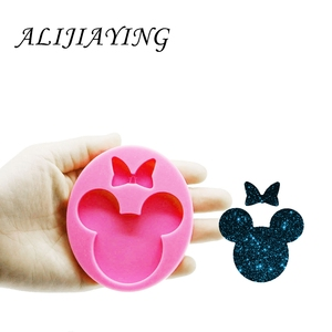 Mouse Head Silicone Mould Epoxy Craft Molds Clay Resin DIY for Badge Reel DY0075(China)