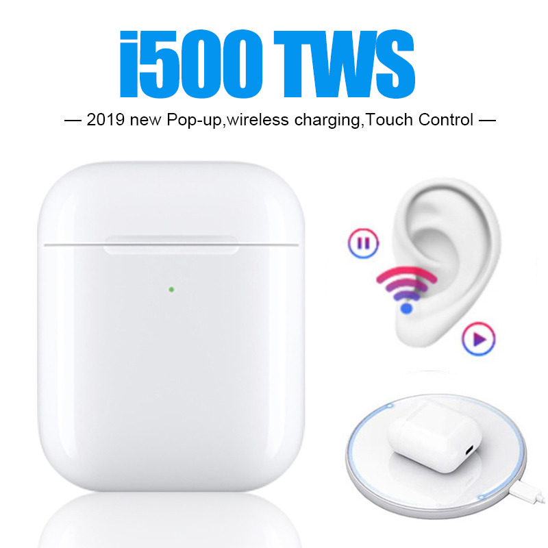 i500 <font><b>tws</b></font> 1:1 replica bluetooth 5.0 support pop up wireless charging earphones smart sensor eurbuds i500tws Pk i1000 <font><b>i9999</b></font> i10000 image