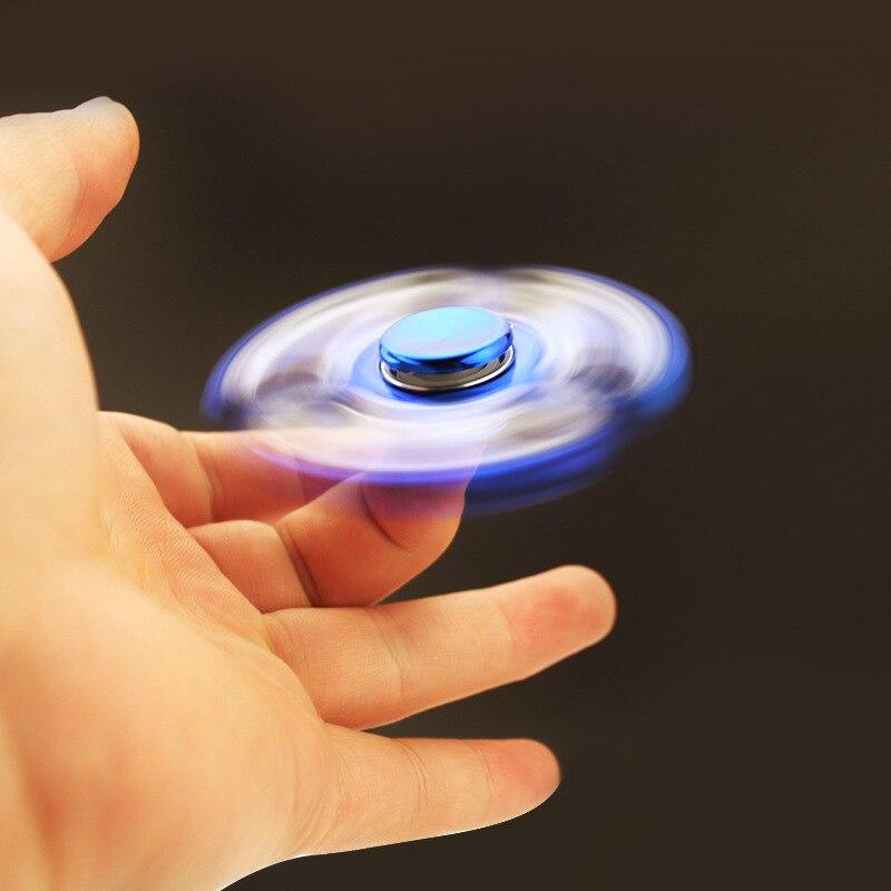 Spinner-Toys Gyro Fidget Finger-Stress EDC Bassing Bearing for ADHD 1pcs Random-Smooth img5