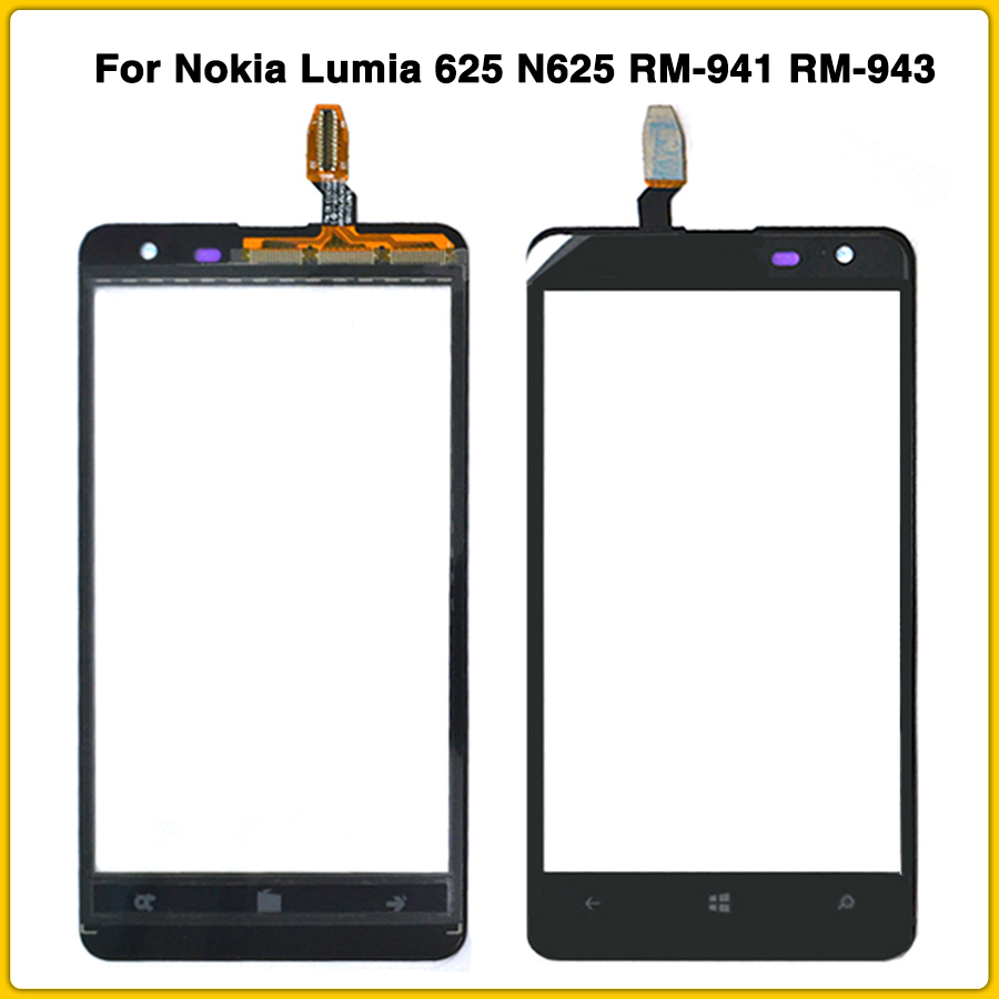 new touchscreen For <font><b>Nokia</b></font> <font><b>Lumia</b></font> <font><b>625</b></font> N625 RM-941 RM-943 <font><b>Touch</b></font> <font><b>Screen</b></font> Panel Digitizer <font><b>Sensor</b></font> front Glass Lens Replacement image