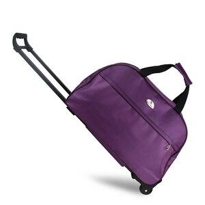 Image 5 - Julysong s canção oxford rolando bagagem mala de viagem com rodas trole bagagem para homem/mulher levar em sacos de viagem