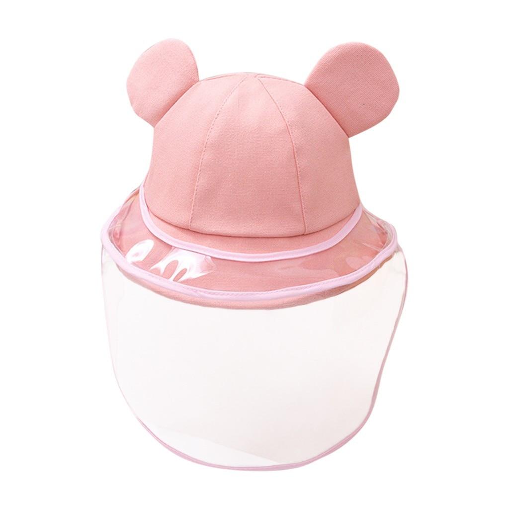 Dust And Virus Protection Dustproof Cover Kids Boys Girls Fisherman Cap Hat Baby Girl Hat Summer #C