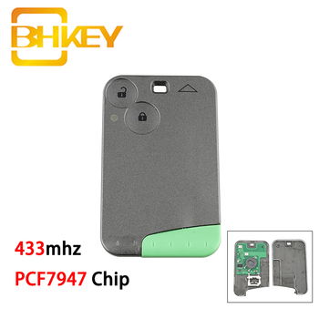 цена на BHKEY For Renault Key 433mhz Car Remote Key For Renault Laguna with Uncut Key Blade PCF7947 Chip Smart Car Key 2 Buttons