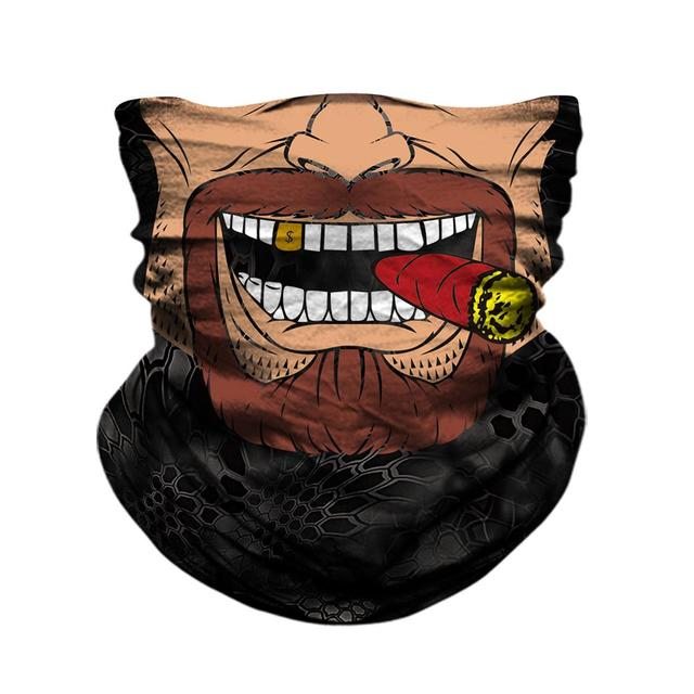 Motorcycle Face Mask Bicycle Skull Half Face Mask Ghost Scarf Multi Use Neck Summer 1
