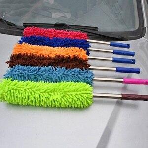 Image 4 - 1 pçs cores aleatórias 57cm extra longo flexível escova de lavagem carro microfibra macarrão chenille liga roda limpeza ferramenta