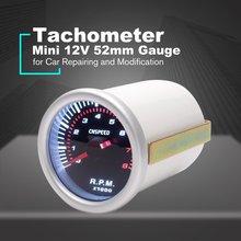 CNSPEED УФ-фильтр 52 мм с электрического двигателя автомобиля Скорость указатель тахометр, измеритель частоты вращения метр тестер 0~ 8000 счетчик частоты вращений для 4/6/8 цилиндров