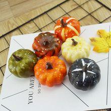 Halloween-Decoration Artificial-Pumpkin Crafts Simulation Fake Vegetabl Mini Home 6pcs