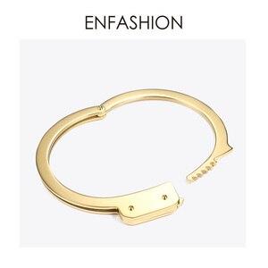 Image 2 - ENFASHION אזיקים קאף צמיד Manchette זהב צבע נירוסטה פאנק צמידי צמידים לנשים תכשיטים B192057