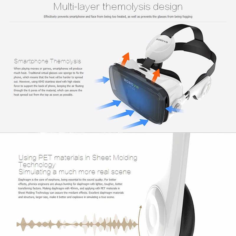 BOBOVR Z4 Casque VR Virtual Reality แว่นตา 3D แว่นตาหูฟังชุดหูฟังสำหรับสมาร์ทโฟนโทรศัพท์สมาร์ท Viar กล้องส่องทางไกลวิดีโอเกม