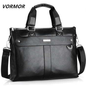 Men Briefcase Business Shoulder Bag Leather Computer Laptop Handbag  1