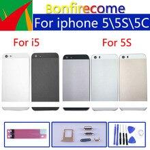 Iphone 5 5S SE pil kapağı kapı konut arka konut kabuk şasi orta çerçeve vücut arka kılıf