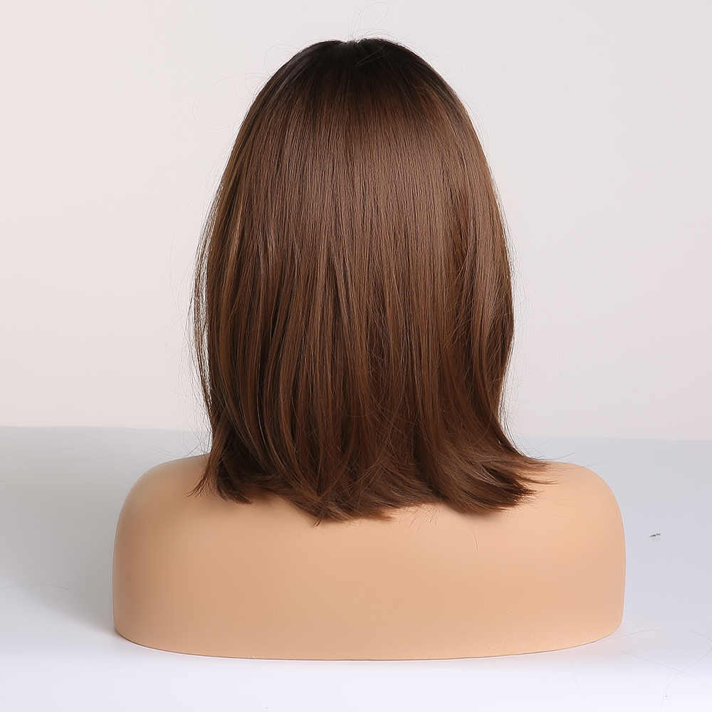 ALAN EATON Medium Bobo Cosplay blond peruki z grzywką kobieta syntetyczne peruki do włosów faliste słodkie lolita Cosplay kobiece codzienne sztuczne włosy