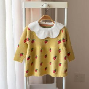Image 5 - Baby Girls Knitted Dress 2019 autumn winter Clothes children Toddler Tops Shirts for girl Kids princess Cotton Christmas Dresses