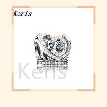 Серебро 925 пробы 1:1 Подлинная Корона Эльзы в открытом небе Шарм Женский браслет ювелирные изделия 791588czb