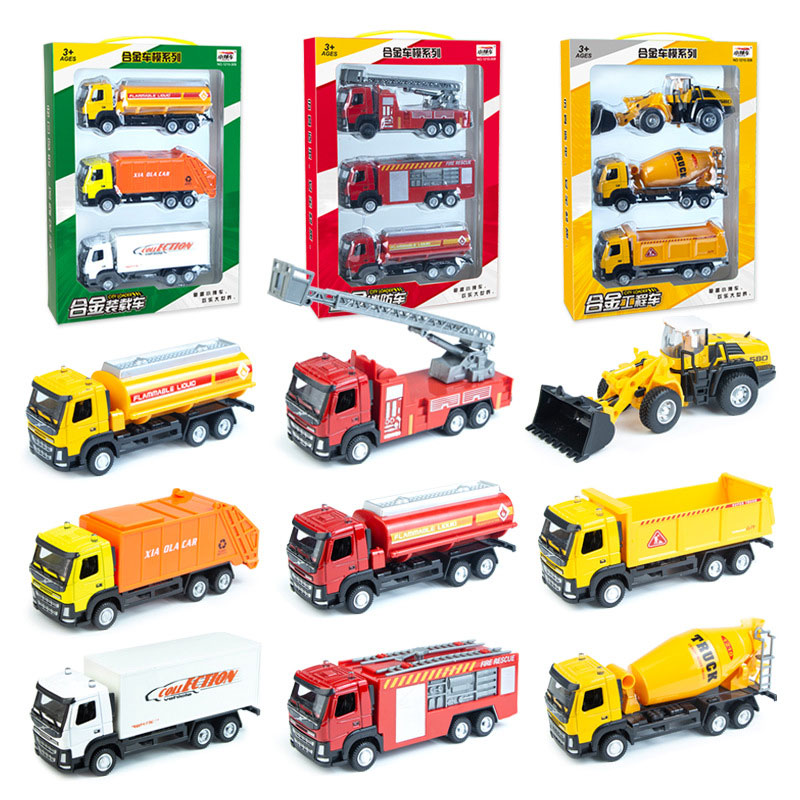 Alloy cars, 1:60 alloy construction vehicles, collectible truck model, cast and toy excavators, car trucks, wholes