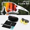 Acexpnm polarizado mountain bike ciclismo óculos de ciclismo esportes ao ar livre óculos uv400 4 lente ciclismo óculos de sol das mulheres dos homens 18