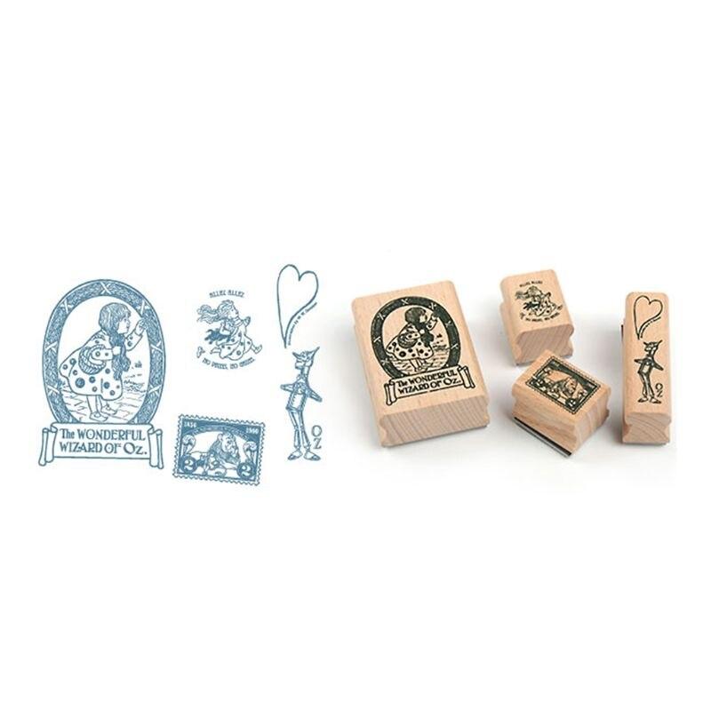 Vintage  Decoration Stamp Set DIY wooden rubber stamps for scrapbooking standard