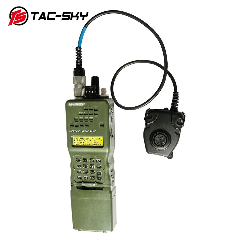 TAC-SKY AN / PRC 152 152a Military Walkie-talkie Model Radio Military Harris Virtual Case+military Headset Ptt 6 Pin PELTOR PTT