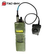 TAC SKY EINE/PRC 152 152a military walkie talkie modell radio military Harris virtuelle fall + militär headset ptt 6 pin PELTOR PTT