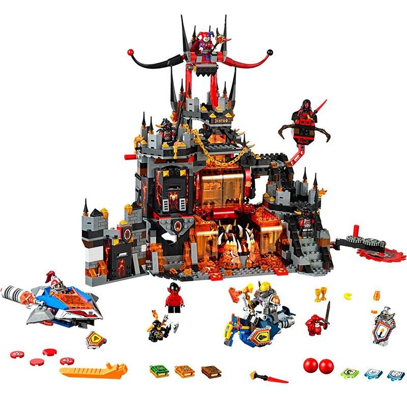 14019 Building Blocks Jestro's Volcano Lair Model Bricks Toys Compatible Legoed 70323 Bela 10521