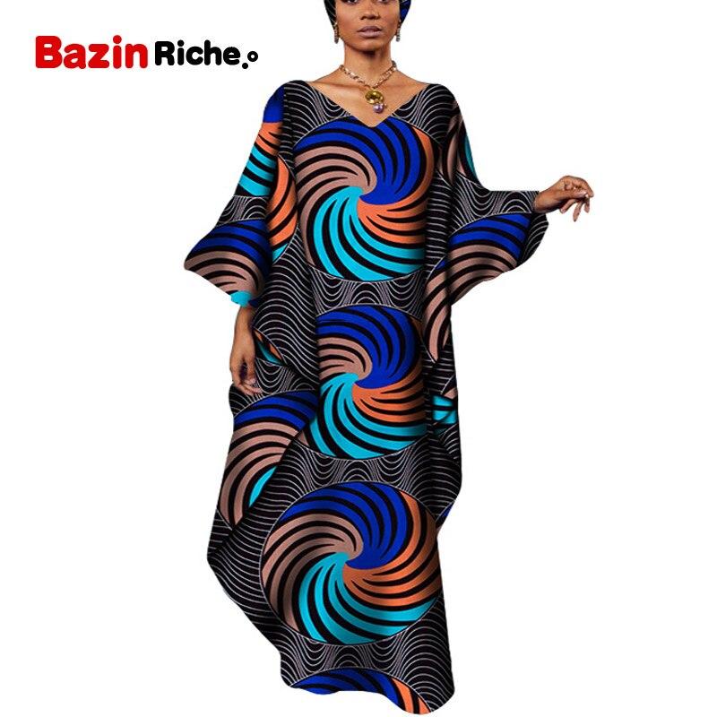 Robes africaines pour femmes 2019 afrique vêtements musulman longue robe de haute qualité longueur mode africaine lâche robe pour dame WY5120