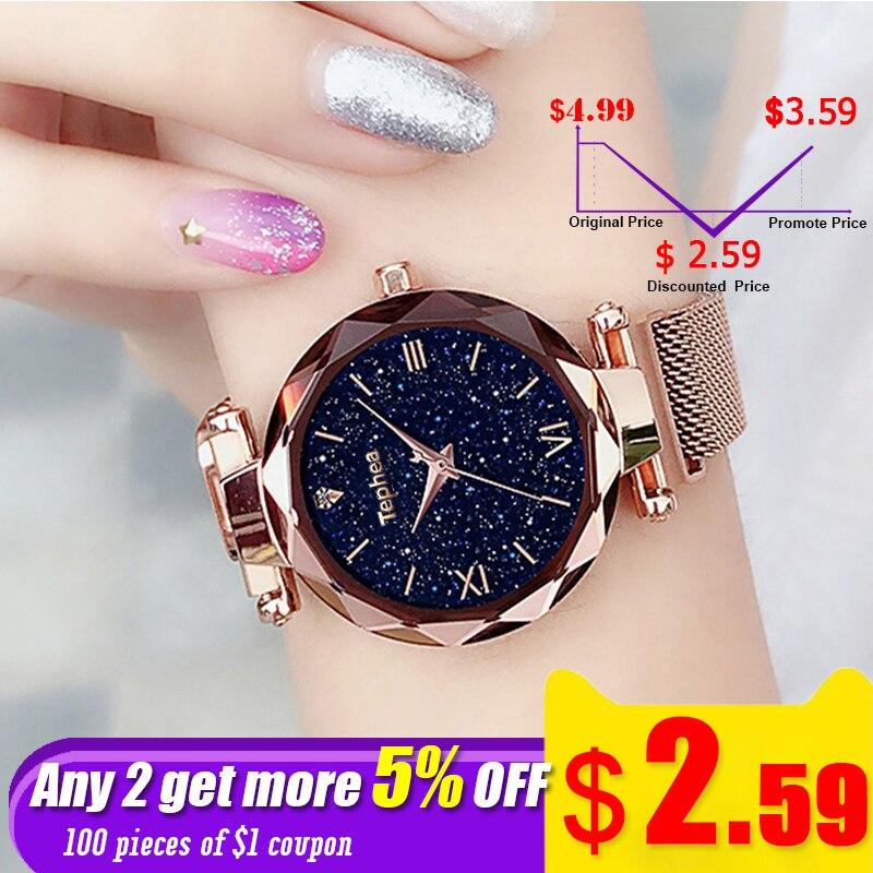 Fashion Starry Sky Rose Watch Women Luxury 2019 Ladies Bracelet Wrist Watches Women Stainless Steel Bayan Kol Saati Reloj Mujer
