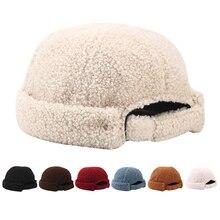 Luxury Hat Beanies Skullies-Cap Worker Furry Retro Women Winter Fashion Brimless