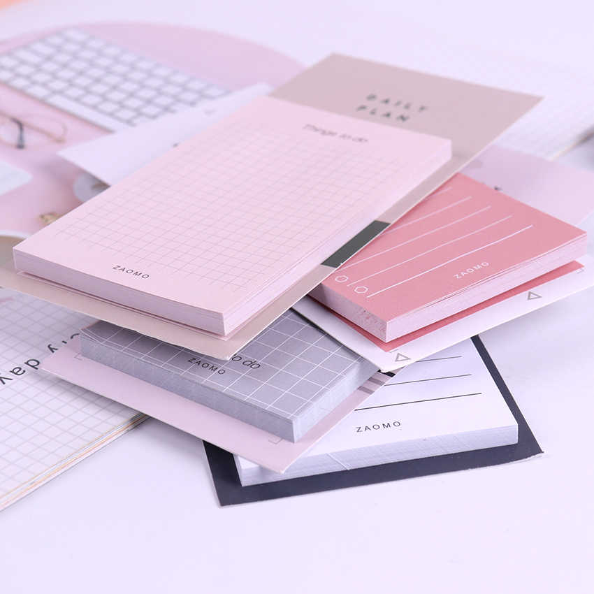 Creative Study&Work Plan Kraft Paper Sticky Notes Post Memo Pad Kawaii Stationery Office School Supplies Memo Pads 1PC