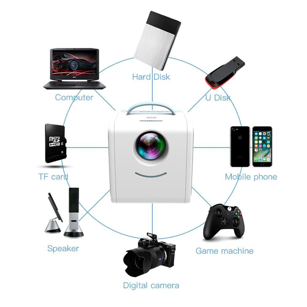 Lejiada q2 lcd mini projetor portátil suporte 1080p completo hd hdmi usb vga para crianças estudo presente de natal-1