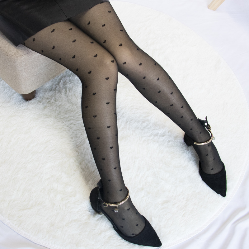 1PC Sexy Women Pantyhose Tights Summer Nylon Polka Dot Print Stockings Seamless Fishnet Mesh Female Hosiery Vintage Faux Tattoo 4