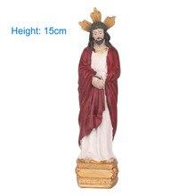 Resin Jesus Christ Statue Catholic Saint Statue Figurine Tabletop Sculpture