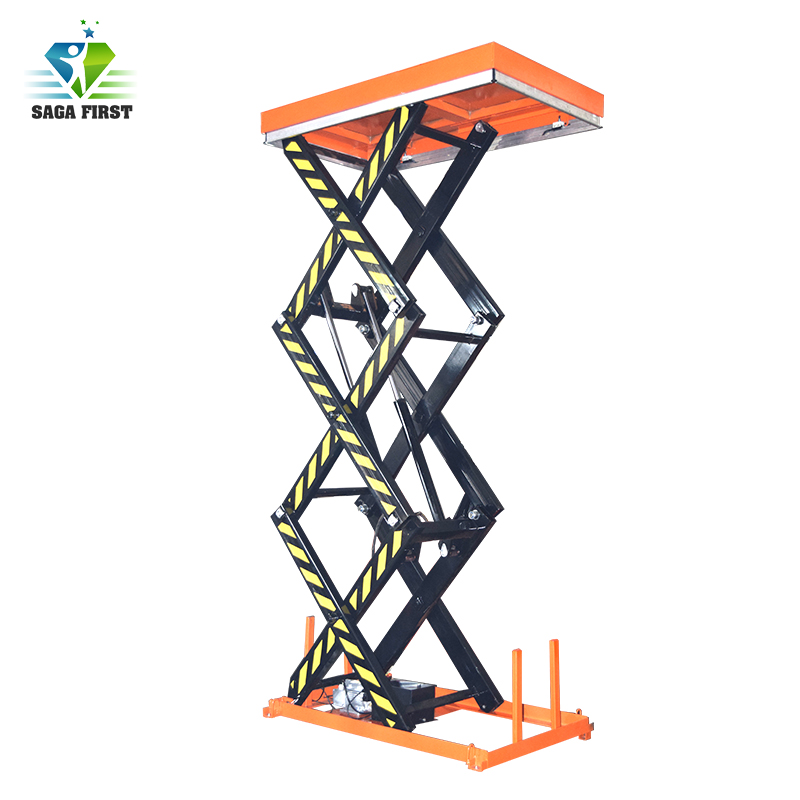 U Shape Fixed Low Electric Aerial Lifting Elevator