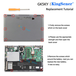 "Image 5 - Kingsener GK5KY Laptop Batterij Voor Dell Inspiron 13 ""7000 Series 7347 7348 7352 7353 7359 11"" 3147 3148 15 ""7558 04K8YH 43WH"