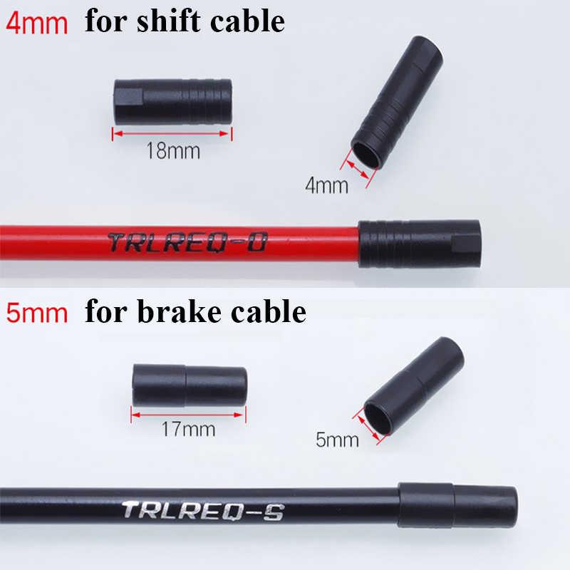 100pcs Kunststoff MTB Fahrrad Bremse Kabel Cap Shift Kabel Fahrrad Umwerfer