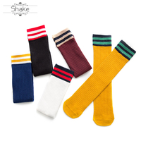 Custom Cute Calf Socks Spring and Autumn Female Socks College Wind Solid Color Parallel and Knee Pile Stocking Socks