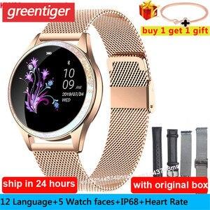 Image 1 - KW20 스마트 시계 여성 IP68 방수 손목 시계 심장 박동 블루투스 시계 여성 팔찌 2019 레이디 시계 VS KW10 Smartwatch.