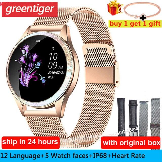 KW20 Smart Watch Women IP68 Waterproof Wristwatch Heart Rate Bluetooth Watch Women Bracelet 2019 Lady Watch VS KW10 Smartwatch.