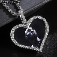 Цепочка с кулоном в виде сердца фианитом на заказ