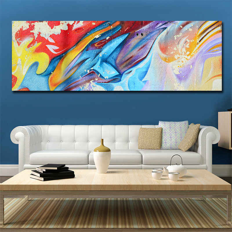 Decor Colorful Abstract Canvas Painting