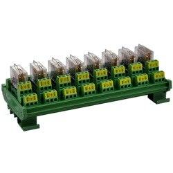 الالكترونيات-صالون الدين السكك الحديدية جبل AC/DC 5V التحكم 8 DPDT 5Amp للتوصيل الطاقة تتابع واجهة وحدة.