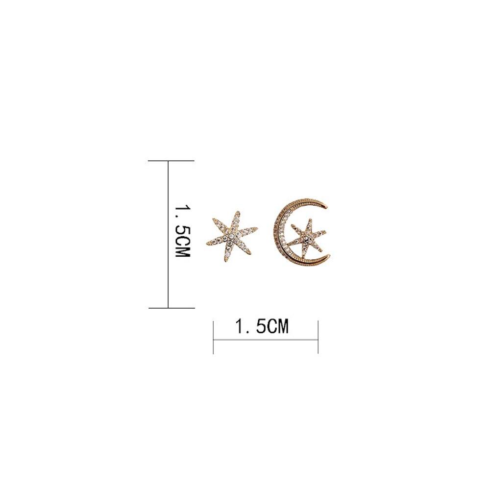 2020 Personality Earrings Hollow out Asymmetrical Dangle Geometric Moon Star Long Earrings Prevent Allergy Round Earrings