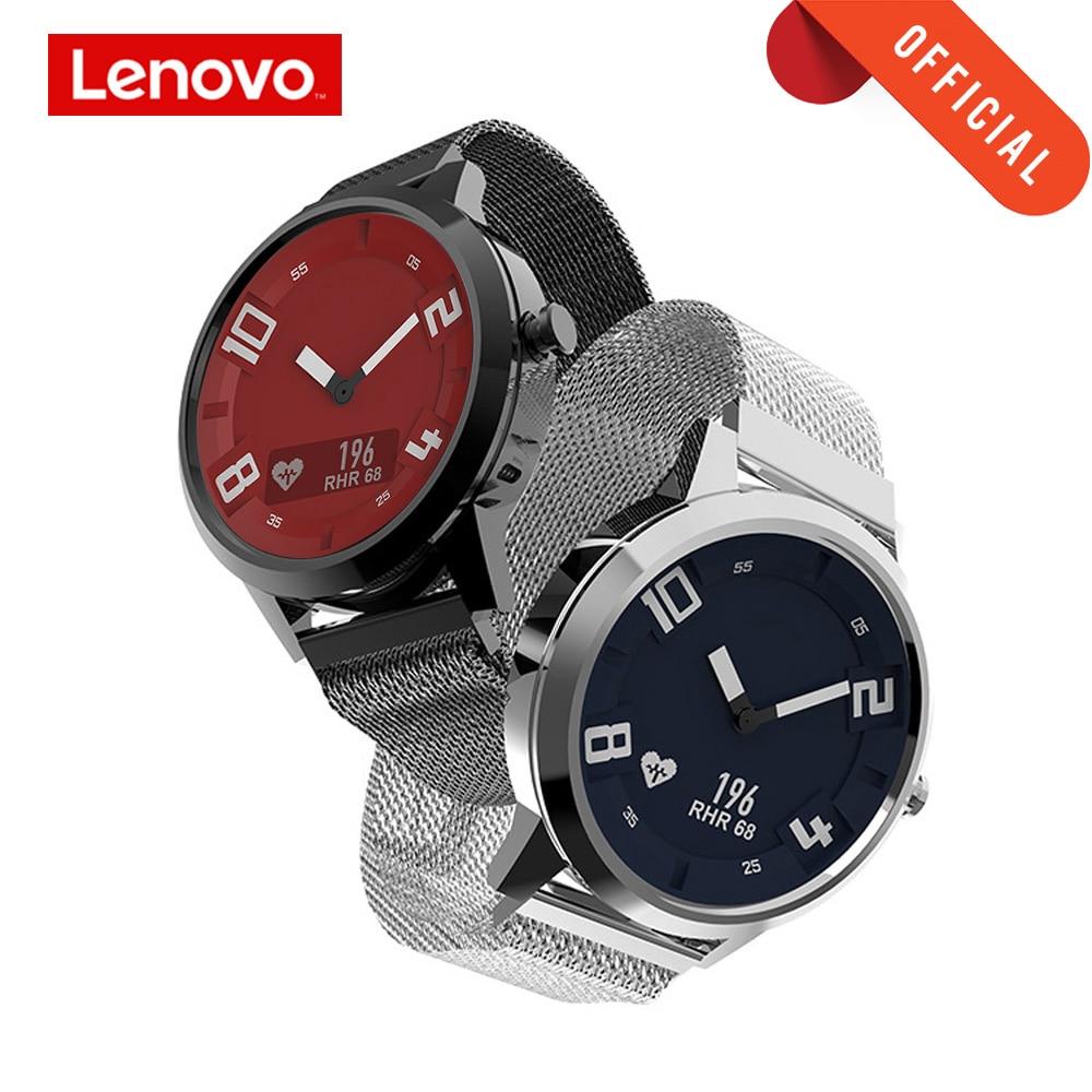 Lenovo montre intelligente fréquence cardiaque montre de tension artérielle Bluetooth 5.0 OLED saphir miroir sport Smartwatch métal hommes Watchs