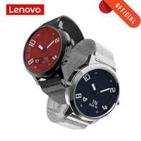 Reloj inteligente Lenovo reloj de presión arterial con ritmo cardíaco Bluetooth 5,0 OLED zafiro espejo deportivo reloj inteligente de Metal para hombres