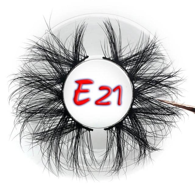Mikiwi 25mm False Eyelashes Wholesale Thick Strip 25mm 3D Mink Lashes Custom Packaging Label Makeup Dramatic Long Mink Lashes 5