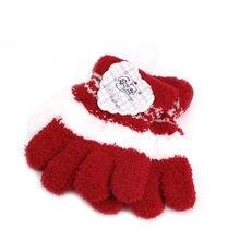 Милая одежда для детей и малышей теплые зимние перчатки на весь