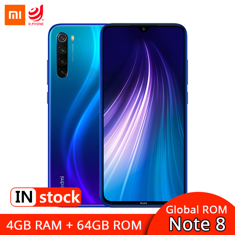 "Global ROM Xiaomi Redmi Note 8 4GB 64GB Smartphone Snapdragon 665 Octa Core 6.3"" Display 48MP Quad Camera 4000mAh Fast Charge"