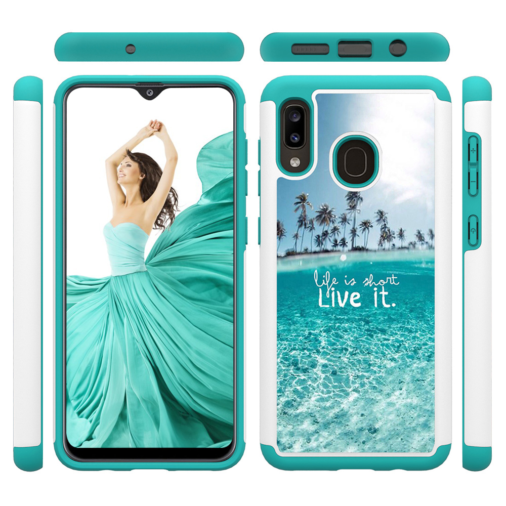 Image 3 - Lovely Painted Leather Phone Cases for Samsung Galaxy A20 A30 Case for Samsung A50 A20e A10e PC Back Cover Soft TPU Animal Coque-in Fitted Cases from Cellphones & Telecommunications