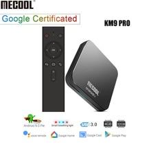 KM9 PRO ТВ Android tv 9,0 tv Box DDR4 4 Гб ram 32 ГБ rom Amlogic S905X2 Smart tv Box 2,4G 5G WiFi BT4.0 4K HD телеприставка