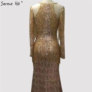 Image 3 - เขย่า Mermaid แฟชั่น Elegant ใหม่ชุดราตรี 2019 แขนยาว Beading ชุดราตรี Gowns Serene Hill LA6544